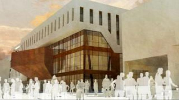 Architect's impression of the new student precinct at Swansea University's Singleton campus