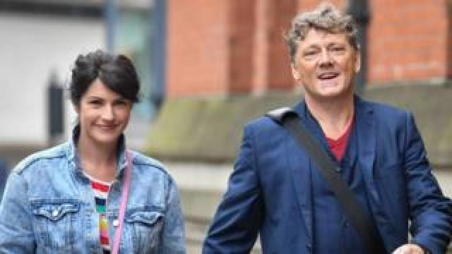 Emmerdale actor Mark Jordon arrives at court with his partner and co-star Laura Norton