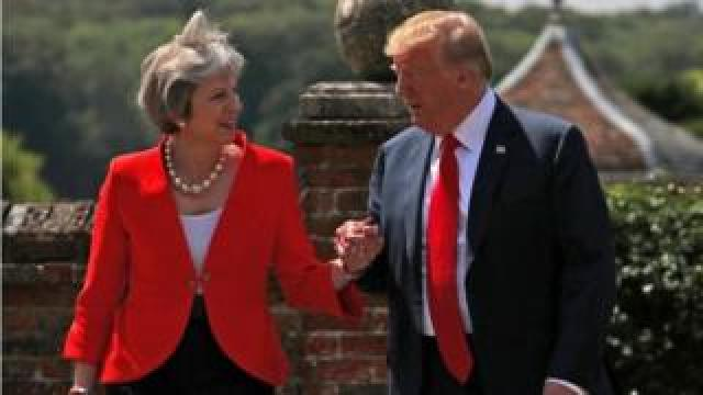 Theresa May and Donald Trump