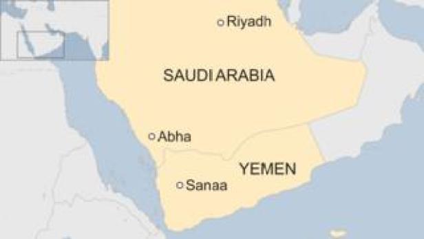 Map of Saudi Arabia showing Abha