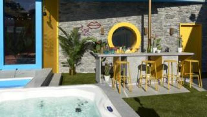 The bar and hot tub in the Celebrity Big Brother 2018 house