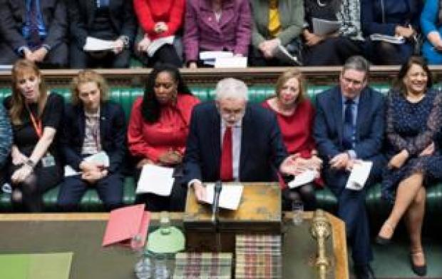 Jeremy Corbyn speaks at Prime Minister's Questions