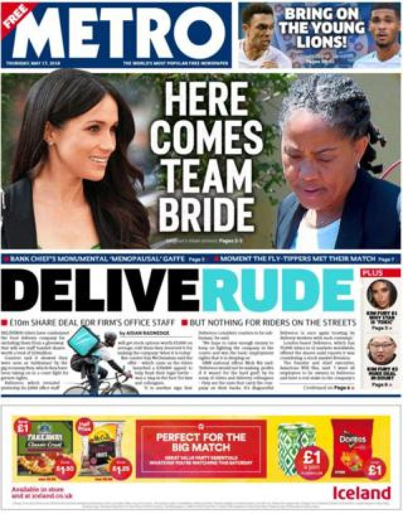 Metro Thursday front page