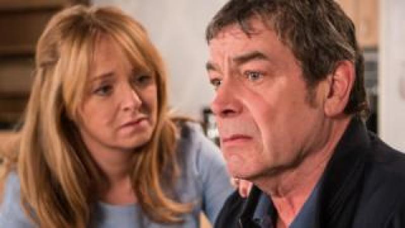 Jenny Connor (Sally-Ann Matthews) and Johnny Connor (Richard Hawley)