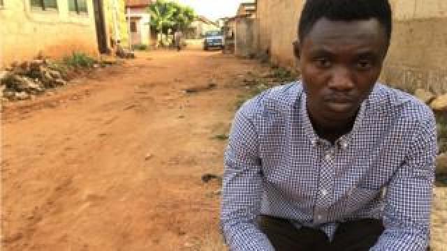 Martin Kyere has walked hundreds of kilometres around Ghana to attempt to track down victims' families