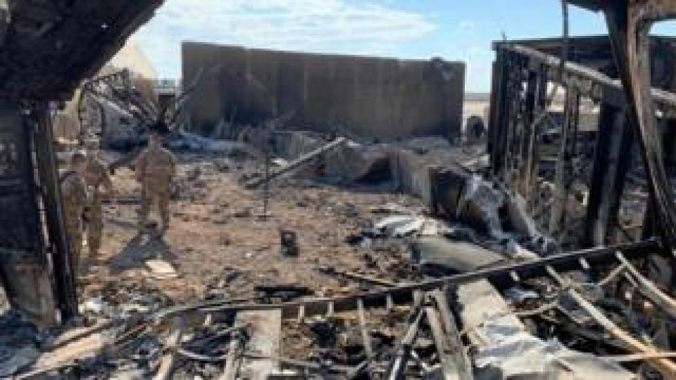 trump Iran attacked a US base in Iraq in retaliation for the killing of Iran General Qasem Suleimani
