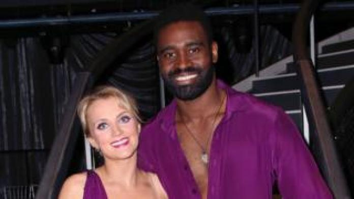 Evanna Lynch with dancer Keo Motsepe