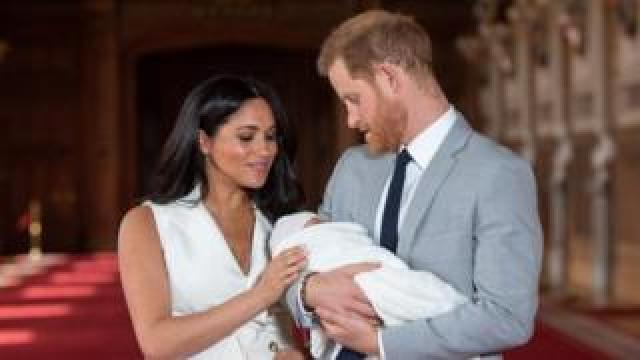 The Duke and Duchess of Sussex with their baby son Archie in May 2019