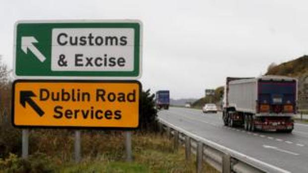 Traffic crossing the Irish border