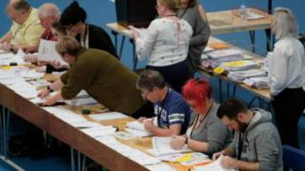 Ballots being counted in Sunderland for EU elections