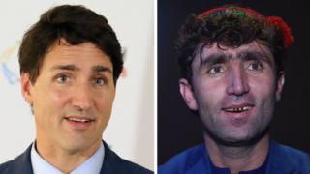 Abdul Salam Maftoon, an Afghan wedding singer who looks like Canadian Prime Minister Justin Trudeau