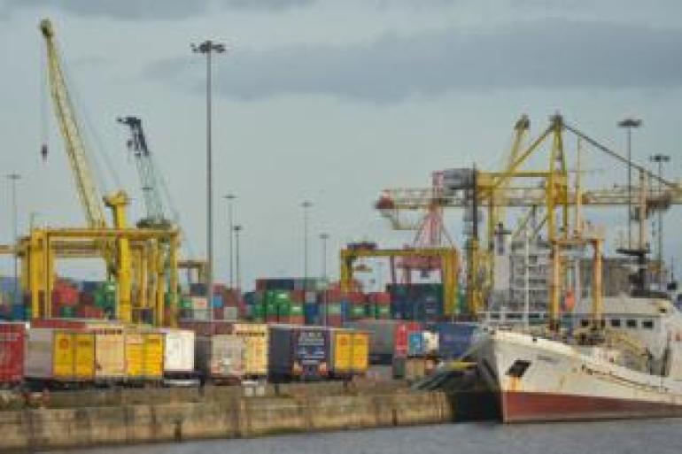 Hafen von Dublin