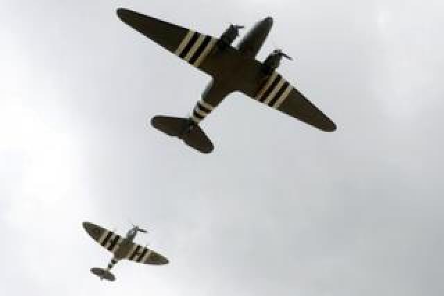 A flypast of period aircraft