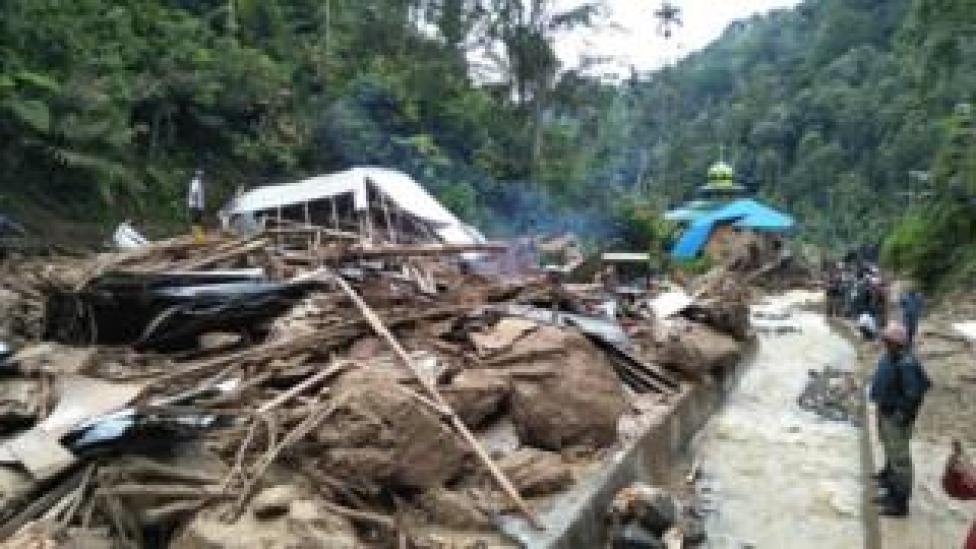 NEWS Flood devastation at Muara Saladi