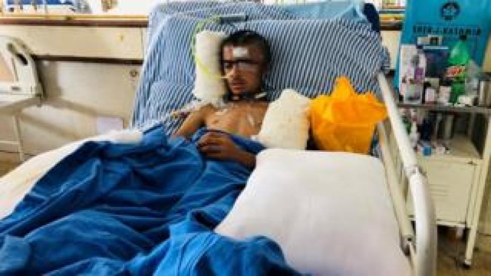 Asrar Ahmad Khan in hospital