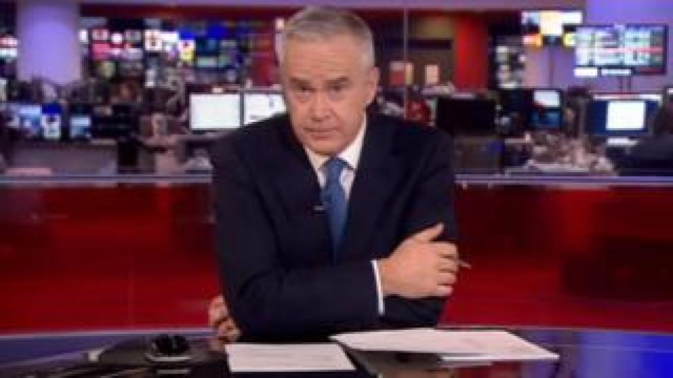 Huw Edwards on the News at Ten