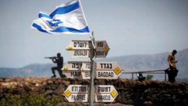 File photo showing Israeli position in the occupied Golan Heights (10 May 2018)
