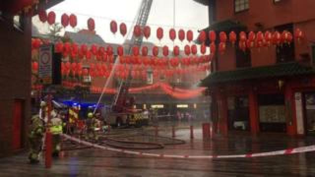Firefighters in Chinatown
