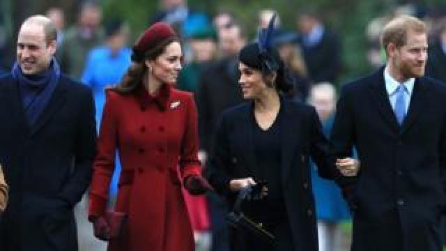 Royal Family arriving