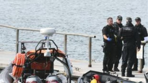 Police at Neyland Marina