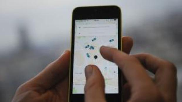 Screen of Uber