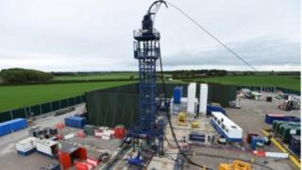 Fracking site, Lancashire