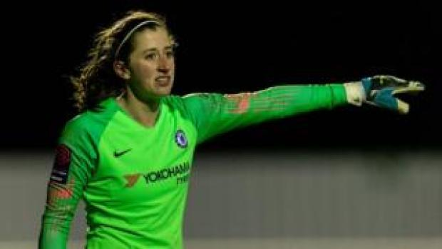 Lizzie Durack in action for Chelsea