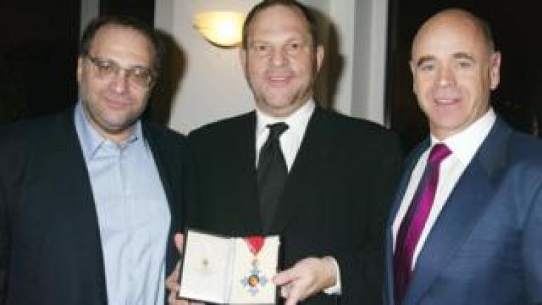 Bob Weinstein, Harvey Weinstein and Sir Philip Thomas in 2004