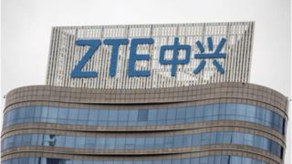 ZTE sign (file pic)