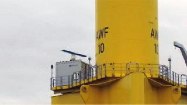 Turbine radar unit
