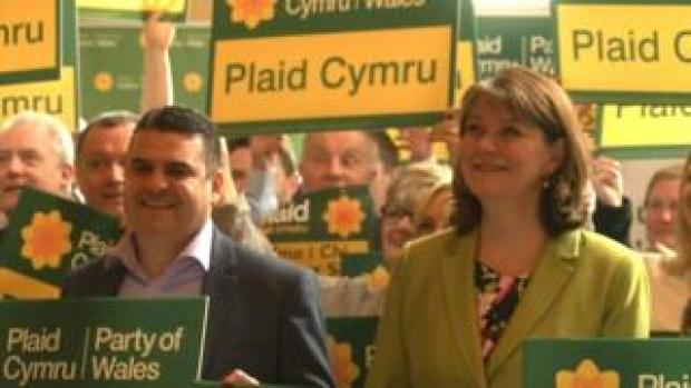 Neil McEvoy and Leanne Wood