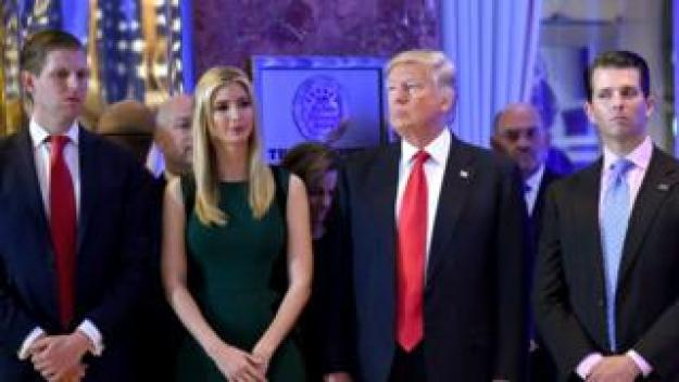 Mr Trump's children, Ivanka, Eric, and Donald Jr were named in the lawsuit