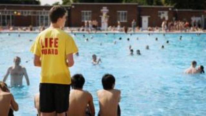 Lifeguard at Brockwell Lido