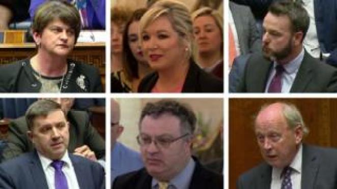 NI political parties gave their views inside and outside the assembly chamber