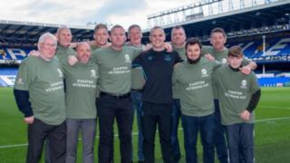 Dave Curtis with his Everton veterans team