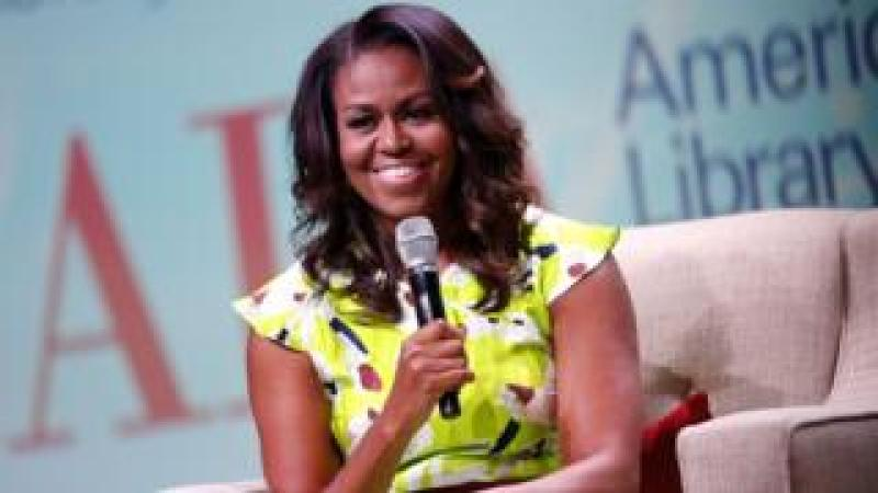 Michelle Obama discusses her memoir Becoming during the 2018 American Library Association Annual Conference on June 22, 2018 in New Orleans, Louisiana