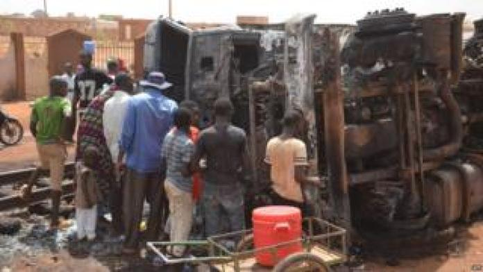 Site of tanker blast in Niamey, Niger