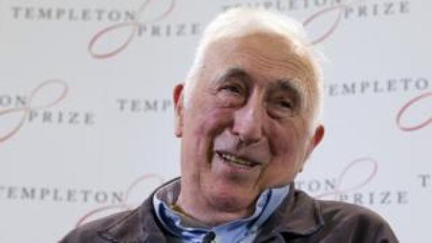 Jean Vanier speaks at a press conference in London