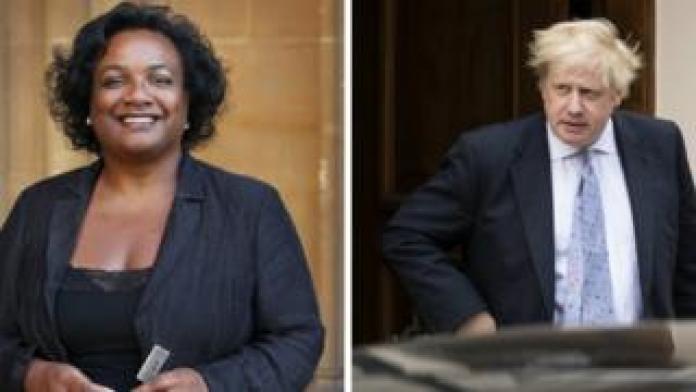 Diane Abbott and Boris Johnson