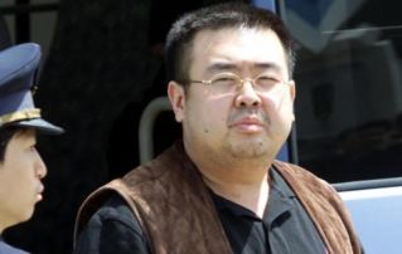 Kim Jong-nam pictured getting off a bus at Narita airport near Tokyo