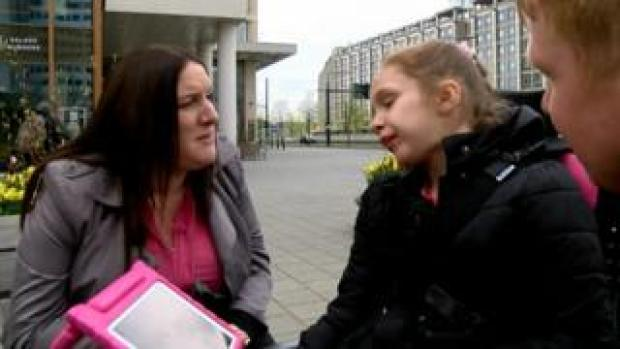 Emma Appleby with her daughter Teagan in the Netherlands