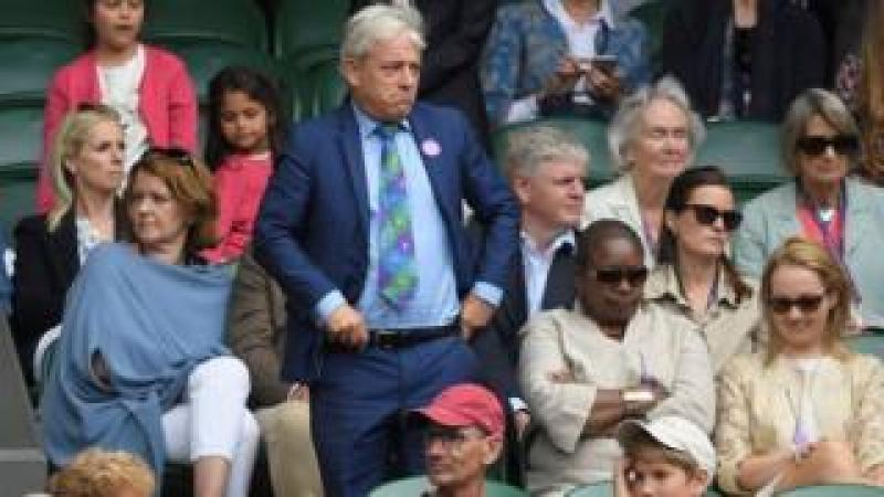 John Bercow at Wimbledon