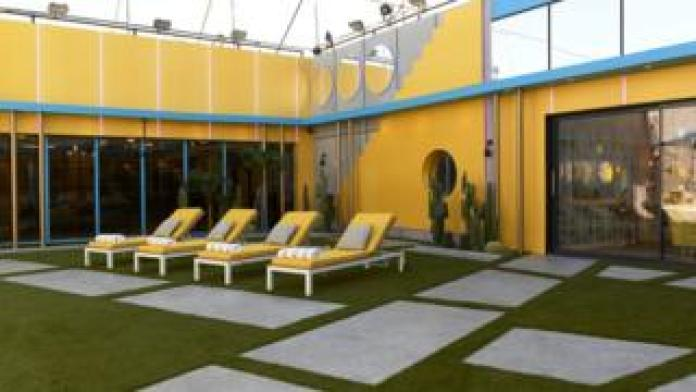 The garden in the Celebrity Big Brother 2018 house