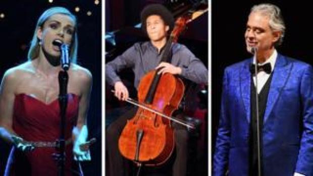 Katherine Jenkins, Sheku-Kanneh Mason and Andrea Bocelli