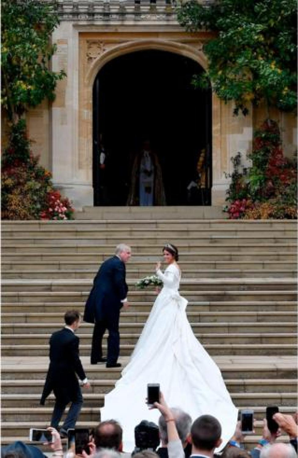 NEWS Princess Eugenie of York climbed the steps with her father Prince Andrew, Duke of York