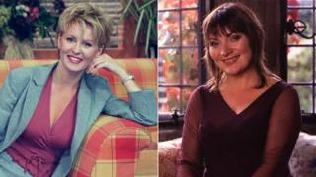 Esther McVey and Lorraine Kelly