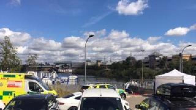 Police and ambulance, Lakeside Shopping Centre