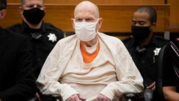 Joseph James DeAngelo during the third day of victim impact statements at the Gordon D. Schaber Sacramento County Courthouse on Thursday, Aug. 20, 2020, in Sacramento, Calif. DeAngelo, 74, admitted being the infamous Golden State Killer
