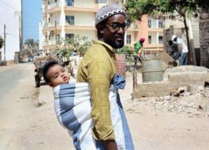 Demba and Ely in Virage, an neighbourhood by the ocean on the outskirts of Dakar, Senegal