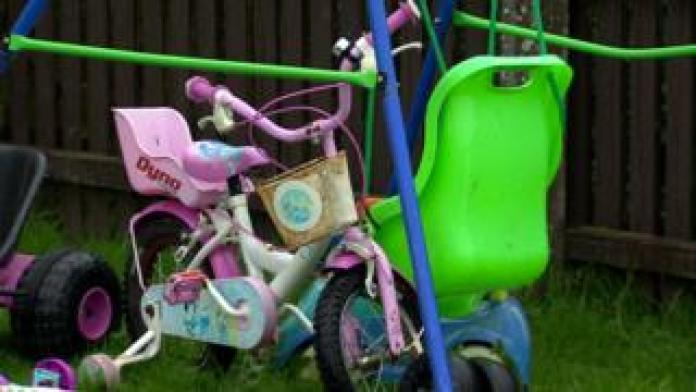 Children's swing and bike